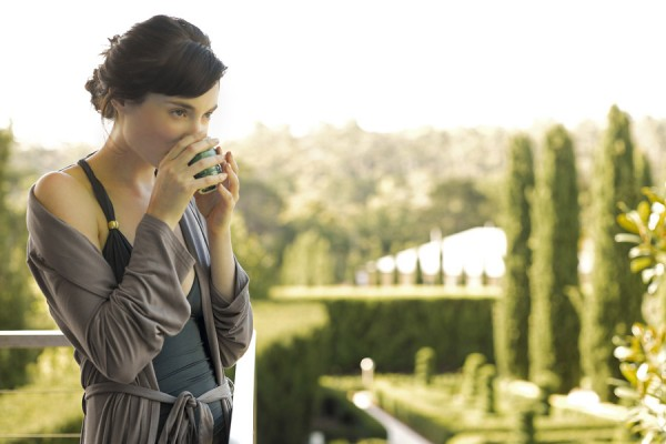 Enjoying a soothing herbal tea at The Mineral Spa day spa Hepburn Springs